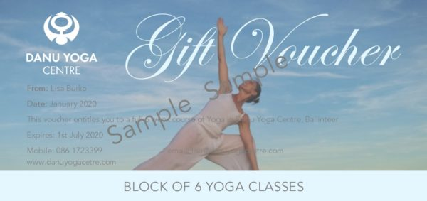Danu Yoga Centre Voucher